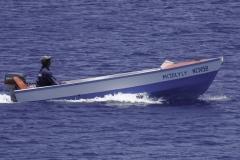 Boot van lokale vissers
